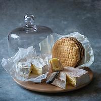 France, Calvados (14), Pays d' Auge,   Fromages du Pays d'Auge:  AOP Camembert de Normandie, AOP Pont-l'Évêque,  AOP Livarot // France, Calvados, Pays d' Auge,  Pays  d'auge cheese,  PDO, Normandy Camembert Cheese,  Pont-l'Évêque cheese ,  Livarot cheese