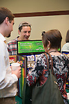 Ryan Lovingood, a graduate assistant for the LGBT Center, at the Campus Communicator Network Expo in Nelson Commons on Wednesday, May 11, 2016. © Ohio University / Photo by Kaitlin Owens
