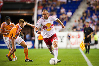 Joel Lindpere (20) of the New York Red Bulls. The New York Red Bulls defeated the Houston Dynamo 2-0 during a Major League Soccer (MLS) match at Red Bull Arena in Harrison, NJ, on August 10, 2012.