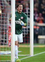 FUSSBALL   1. BUNDESLIGA  SAISON 2011/2012   31. Spieltag FC Bayern Muenchen - FSV Mainz 05       14.04.2012 Torwart Heinz Mueller (1. FSV Mainz 05)