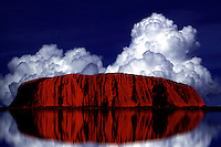 Ayers Rock reflection, Abstract