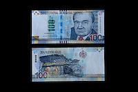 Lima, Peru.  100 Nuevo Soles Banknote Showing Historian Jorge Basadre Grohmann.
