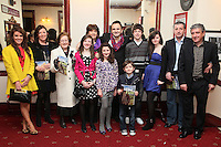 """NO REPRO FEE. 17/1/2010. The Field opening night. The Keane Family are pictured at the Olympia Theatre for the opening night of John B Keanes 'The Field"""" Picture James Horan/Collins"""
