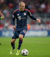 FUSSBALL   CHAMPIONS LEAGUE   SAISON 2013/2014   Vorrunde FC Bayern Muenchen - ZSKA Moskau       17.09.2013 Arjen Robben (FC Bayern Muenchen)  Einzelaktion am Ball
