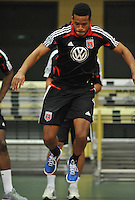 D.C. United defender Ethan White during the pre-season fitness training session at George Manson University before departing for Bradenton Florida to get ready for the 2013 season, Friday January 18, 2013.