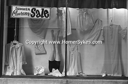 Shop window. Ladies clothing store Trenton, New Jersey USA 1969.