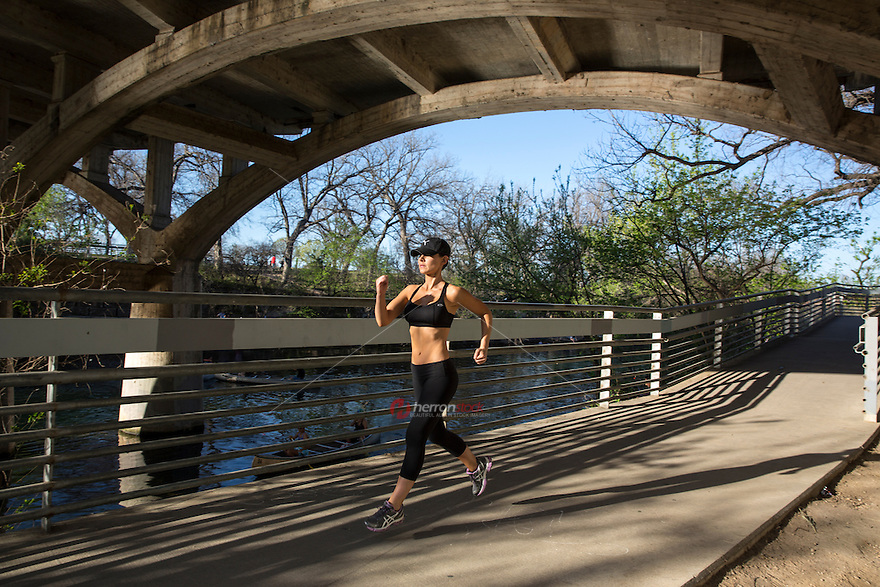Running Healthy Fitness Woman Training For Triathlon On