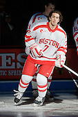 Max Nicastro (BU - 7) - The visiting Boston College Eagles defeated the Boston University Terriers 3-2 to sweep their Hockey East series on Friday, January 21, 2011, at Agganis Arena in Boston, Massachusetts.