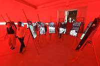 Venice, Italy - 15th Architecture Biennale 2016, &quot;Reporting from the Front&quot;.<br /> International Pavilion.<br /> The Open Outdoor Classrooms by Elton and L&eacute;niz in the Chilean Andes.