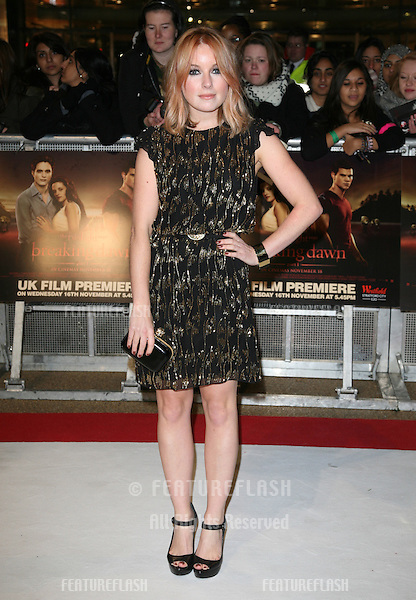 Victoria Hesketh (Little Boots) arriving for the UK premiere of The Twilight Saga: Breaking Dawn Part 1 at Westfield Stratford City, London. 17/11/2011 Picture by: Alexandra Glen / Featureflash