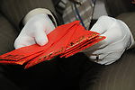 Taiwanese Wedding -- Traditional  Chinese red envelopes containing monetary gifts.