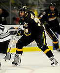 1 December 2007: University of Vermont Catamounts' forward Jonathan Higgins, a Sophomore from Stratham, NH, in action against the Providence College Friars at Gutterson Fieldhouse in Burlington, Vermont. The Friars defeated the Catamounts 4-0 in front of a capacity crowd of 4003, for the 64th consecutive sell-out at Gutterson...Mandatory Photo Credit: Ed Wolfstein Photo