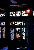 Greene & Greene: Gamble House. Front door from foyer.  Photo '77.