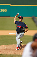 Salem Red Sox pitcher Adam Lau (37) on the mound during a game against the Down East Wood Ducks at Grainger Stadium on April 16, 2017 in Kinston, North Carolina. Salem defeated Down East 9-2. (Robert Gurganus/Four Seam Images)