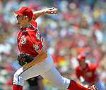 20 May 2012: Washington Nationals pitcher Stephen Strasburg on the mound against the Baltimore Orioles at Nationals Park in Washington, DC. The Nationals defeated the Orioles 9-3 to salvage the third game of their 3-game series. Mandatory Credit: Ed Wolfstein Photo