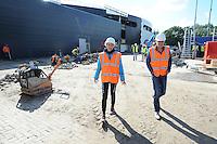 SCHAATSEN: HEERENVEEN: IJsstadion Thialf, 23-09-2015, Perspresentatie Team Clafis, rondleiding ver(nieuw)bouw, ©foto Martin de Jong