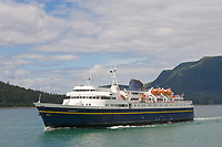Alaska marine ferry MV/Matanuska in Lynn Canal, near Auke Bay, Southeast Alaska