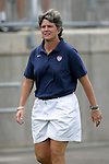 1 August 2004: U.S. head coach April Heinrichs. The United States defeated China 3-1 at Rentschler Field in East Hartford, CT in an women's international friendly soccer game..