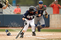 SAN ANTONIO, TX - APRIL 29, 2016: The Louisiana Tech University Bulldogs face the University of Texas at San Antonio Roadrunners at Roadrunner Field. (Photo by Jeff Huehn)