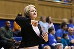 14 December 2015: UMass head coach Sharon Dawley. The Duke University Blue Devils hosted the University of Massachusetts Minutewomen at Cameron Indoor Stadium in Durham, North Carolina in a 2015-16 NCAA Division I Women's Basketball game. Duke won the game 70-46.