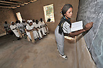 Class in the nursing school run by the United Methodist Church in the village of Wembo Nyama, DR Congo.