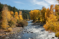 """Truckee River in Autumn 4"" - Photograph of the Truckee River in Autumn near Downtown Truckee, California."