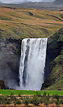 Skogafoss waterfall on Iceland south coast