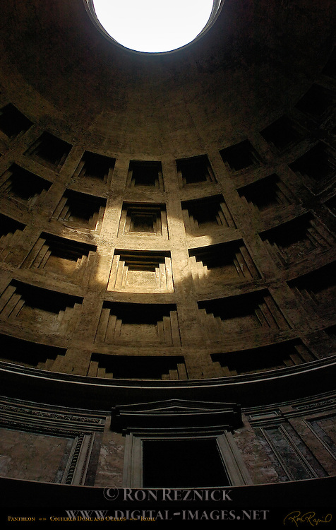 Oculus and Sunspot Coffered Concrete Dome Pantheon Campus Martius Rome