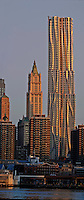 Beekman Tower, architect Frank Gehry, The Woolworth Building designed by Cass Gilbert, Manhattan, New York City, New York, USA