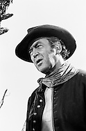 """1967, Del Rio, Texas, USA --- James Stewart plays Mace Bishop in the 1968 western """"Bandolero!"""", directed by Andrew V. McLaglen. --- Image by © JP Laffont"""