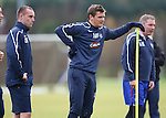 Lee McCulloch is puggled after sprint practice