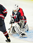 29 December 2010: The 2011 U.S. Men's National University Team's Daniel Pyne, a goaltender attending Drexel University in action against the University of Vermont Catamounts in an exhibition game at Gutterson Fieldhouse in Burlington, Vermont. The Catamounts defeated the National team 7-1. Mandatory Credit: Ed Wolfstein Photo