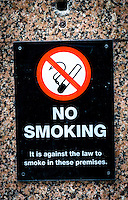 No Smoking Sign Outside Pub - May 2014.