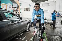 Jolien Verschueren (BEL/Telenet-Fidea) warming up for the Women's Race<br /> <br /> UCI 2017 Cyclocross World Championships<br /> <br /> january 2017, Bieles/Luxemburg