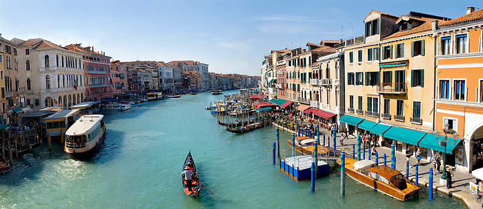 Gondolas on the Grand Canal - Venice - Italy