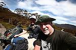 Drew Brown and Stars and Stripes correspondent Heath Druzin along the 40-mile Overland Track in Cradle Mountain-Lake St. Clair National Park, Tasmania, Australia. Nov. 20, 2012.