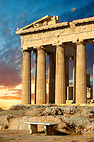 The Parthenon Temple, the Acropolis of Athens in Greece.