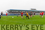Kieran O'Grady scores Glenbeigh's fourth Goal against Louisburgh in the AIB GAA Football Junior All Ireland Club Championship Semi Final in Ennis on Sunday.
