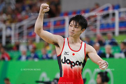 Kohei Uchimura (JPN), <br /> AUGUST 8, 2016 - Artistic Gymnastics : <br /> Men's Final  <br /> Pommel Horse <br /> at Rio Olympic Arena <br /> during the Rio 2016 Olympic Games in Rio de Janeiro, Brazil. <br /> (Photo by Sho Tamura/AFLO SPORT)