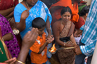 Wayanad, Kerala, India, April 2008. Mountain people celebrate a Hindu festival with prayers and rituals in the local Temple. The Wayanad district of Kerala offers wildlife viewing opportunities, an insight into tribal culture evocative of earlier centuries, trekking and other adventure activities. Photo by Frits Meyst/Adventure4ever.com