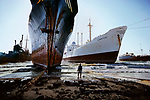 00010_06, Ship Breaking Yard near Karachi, Pakistan 1981<br />