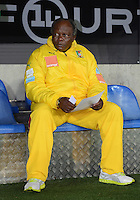 FUSSBALL   INTERNATIONAL   Testspiel    Albanien - Kamerun       14.11.2012 Trainer Jean-Paul Akono (Kamerun)