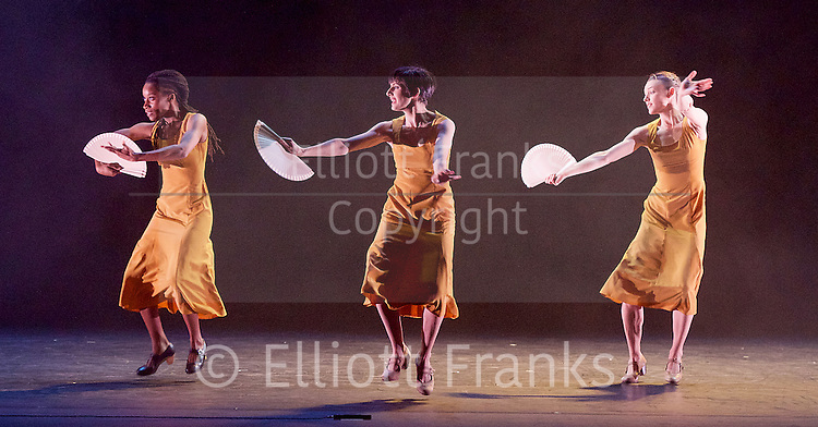 Sadler's Wells Sampled <br /> at Sadler's Wells, London, Great Britain <br /> press photocall / rehearsals <br /> 2nd February 2017 <br /> <br /> I come to my body as a question <br /> by dotdotdot dance <br /> Yinka Esi Graves <br /> Noemi Luz<br /> Magdalena Mannion <br /> <br /> <br /> <br /> <br /> Photograph by Elliott Franks <br /> Image licensed to Elliott Franks Photography Services