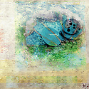 Stones and water. Photo based mixed medium illustration.