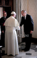 Pope Francis Meets President of Latvia Andris Berzins at the Vatican on  September 20, 2014.