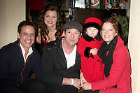 LOS ANGELES - DEC 17:  Christian LeBlanc, Heather Tom, Winsor Harmon, Michelle Stafford and her daughter at the 2011 Tom / Achor Annual Christmas Party at Private Home on December 17, 2011 in Glendale, CA