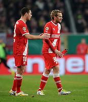 FUSSBALL   DFB POKAL   SAISON 2011/2012  ACHTELFINALE  Fortuna Duesseldorf - Borussia Dortmund              20.12.2011 Thomas Broeker (li) und Sascha Roesler (re, beide Duesseldorf) sind enttaeuscht