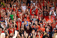 CHARLOTTESVILLE, VA- NOVEMBER 29: Virginia Cavalier fans react during the game on November 29, 2011 at the John Paul Jones Arena in Charlottesville, Virginia. Virginia defeated Michigan 70-58. (Photo by Andrew Shurtleff/Getty Images) *** Local Caption ***