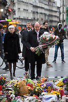 Prince Albert of Monaco pays a tribute o the victims of the Brussels terrorist attacks - Brussels