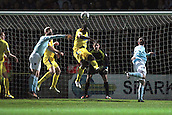15.01.2013. Torquay, England. Torquay's Brian Saah clears during the League Two game between Torquay United and Exeter City from Plainmoor.